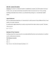 CISC 102 Lecture Notes - Lecture 29: Mathematical Induction, Complex Instruction Set Computing