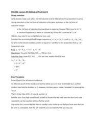 CISC 102 Lecture Notes - Lecture 30: Mathematical Induction, Complex Instruction Set Computing