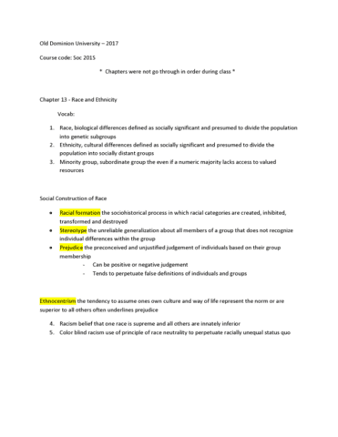 soc-201s-lecture-13-old-dominion-university-soc-201s-notes-chapter-13