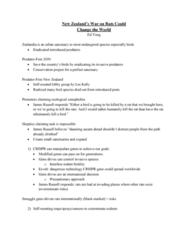 ENV 320W Study Guide - Final Guide: Crispr, Rodent, Black Market