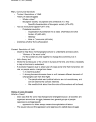 PHIL101 Lecture Notes - Lecture 20: Proletarian Revolution, The Communist Manifesto, Class Conflict