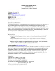 CRIM 2652 Lecture Notes - Lecture 1: Prentice Hall, Austin Sarat, Intimate Partner Violence