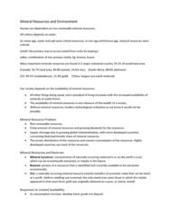 ENSC 2001 Lecture Notes - Lecture 6: Baby Powder, Open-Pit Mining, Aluminium Oxide