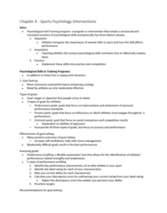 Psychology 2990A/B Chapter Notes - Chapter 4: Autogenic Training, Combat Stress Reaction, Stress Management