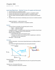ECON 101 Chapter 4-5: ECON chapter 4&5 reading notes