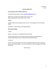 ARTH 301 Lecture Notes - Lecture 2: Conversation Threading