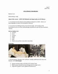 ARTH 301 Lecture Notes - Lecture 1: Artstor, Giorgio Vasari, Lorenzo Ghiberti
