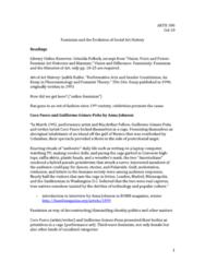ARTH 301 Lecture Notes - Lecture 11: Coco Fusco, Griselda Pollock, Texte Zur Kunst