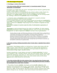 SOCIOL 1 Study Guide - Midterm Guide: Social Fact, Symbolic Interactionism, Human Behavior