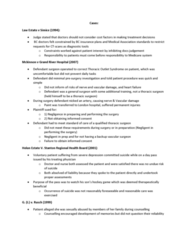 Health Sciences 3101A/B Study Guide - Final Guide: Cardiothoracic Surgery, Thoracic Outlet Syndrome, Grand River Hospital
