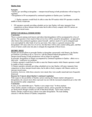 MGSC05H3 Midterm: Quebec Issue