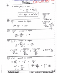 MATH 200 Lecture Notes - Lecture 7: Radian