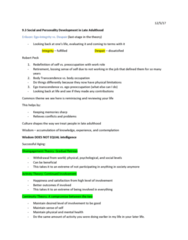 PSY 210 Lecture Notes - Lecture 20: Disengagement Theory, Activity Theory, Legal Death
