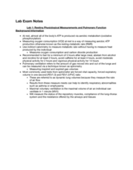 KIN 105 Study Guide - Final Guide: Breathing, Cellular Respiration, Lung Volumes