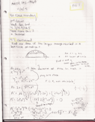 MATH 192 Lecture 8: Math 192 Notes 11.04.15