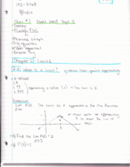 MATH 192 Lecture 25: Math 192 Notes 8.26.15