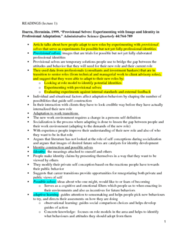 SOC446H5 Chapter Notes - Chapter 1: Experiential Learning, Administrative Science Quarterly, Role Model