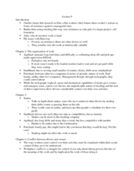 SOC446H5 Lecture Notes - Lecture 6: Masculinity, Blue-Collar Worker, Profit Motive