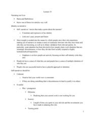SOC446H5 Lecture Notes - Lecture 10: Relate, Stripper, Job Satisfaction