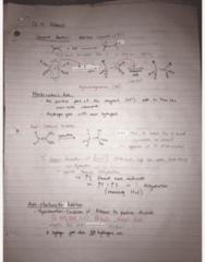 CHEM 2E03 Final: Ch 12 13 14 22 - Alkenes Alkynes Alcohols Aldehydes and Ketones