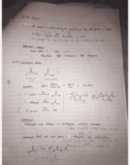 CHEM 2E03 Final: Ch 23 24 25 - Amines and Carboxylic Acids and Derivatives