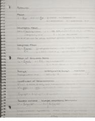 73-100 Final: Business Data Analysis Formulas