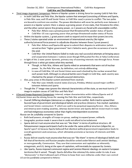 AS.190.209 Study Guide - Midterm Guide: Mutual Assured Destruction, Peloponnesian League, Yalta Conference