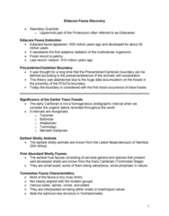 GLGY 307 Lecture Notes - Lecture 14: Stromatolite, Archaeocyatha, Craton