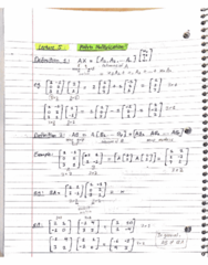 MATH 211 Lecture 5: Matrix Multiplication