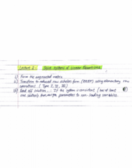 MATH 211 Lecture Notes - Lecture 2: Row Echelon Form