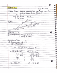 MATH 211 Lecture 16: Lines - Problems