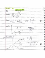 MATH 211 Lecture 14: Vectors properties