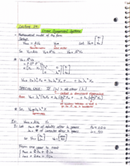 MATH 211 Lecture Notes - Lecture 29: Mathematical Model