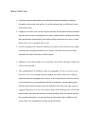 GEOG 1200 Lecture Notes - Lecture 5: Seafloor Spreading, Oceanic Basin, Continental Drift