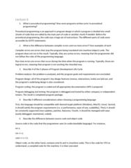 COIS 1010H Study Guide - Final Guide: Debugging, Procedural Programming, Software Development Process