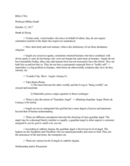 RELI 378 Lecture Notes - Lecture 4: Angels Among Us, Mediumship, Abrahamic Religions
