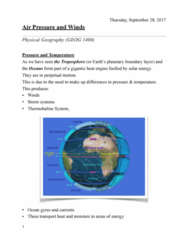 GEOG 1400 Chapter Notes - Chapter 7: Planetary Boundary Layer, Humid Continental Climate, Mawsynram