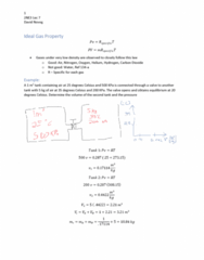 ENGPHYS 2NE3 Lecture Notes - Lecture 7: Heat Capacity, Water Vapor, Specific Volume