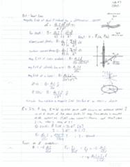 ENGPHYS 2A04 Lecture 23: Biot Savart Law