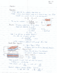 ENGPHYS 2A04 Lecture Notes - Lecture 21: Capacitor
