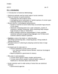 STAB23H3 Lecture Notes - Lecture 1: American Political Science Review, American Sociological Review, Parallel Computing