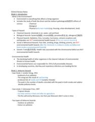 EESA10H3 Study Guide - Midterm Guide: Dental Fluorosis, Bisphenol A, Ion