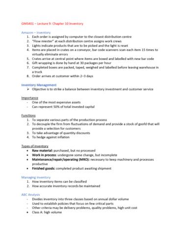 gms-401-lecture-9-gms401-lecture-9