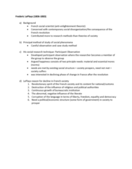 Sociology 2270A/B Lecture Notes - Lecture 5: French Revolution, Social Science, Participant Observation