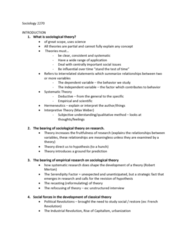 Sociology 2270A/B Lecture Notes - Lecture 1: Dependent And Independent Variables, Social Forces, Hermeneutics