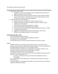 Sociology 2270A/B Lecture Notes - Lecture 5: Culture Industry, Herbert Marcuse, Mass Society