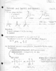 CH 221 Lecture 1: 1.1 Orbitals, Dipoles, and Isomers