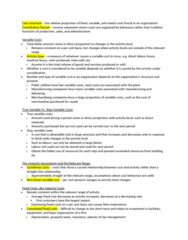 AFM102 Chapter Notes - Chapter 3: Income Statement, Contribution Margin, Scatter Plot