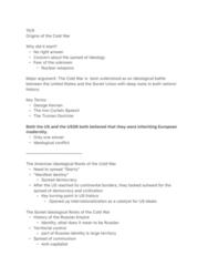 HIST 0865 Lecture Notes - Lecture 7: Truman Doctrine, Manifest Destiny, Percentages Agreement