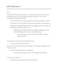 ARTH 260 Lecture Notes - Lecture 1: Syria, Mount Vesuvius, Pumice